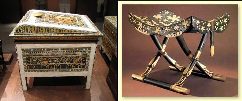El mobiliario egipcio domus sapientiae for Caracteristicas del mobiliario