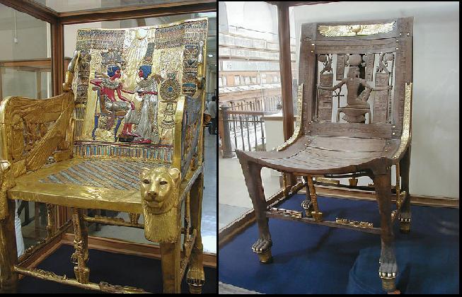 Decoracion Egipcia Antigua ~ Sillas egipcias, Tumba de Tutankhamon
